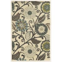 Rizzy Home Eden Harbor Hand-Tufted Floral Blended Wool Area Rug (8' x 10')