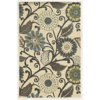 Rizzy Home Eden Harbor Hand-Tufted Floral Blended Wool Area Rug - 5' x 8'