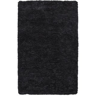 Rizzy Home Commons Hand-tufted Grey Solid Rug (5' x 8')