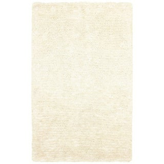 Rizzy Home Commons Hand-Tufted White Solid Area Rug (9' x 12')