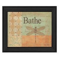 """Bathe"" By Becca Barton, Printed Wall Art, Ready To Hang Framed Poster, Black Frame"