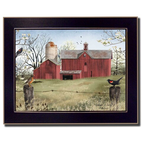 """""""Harbingers of Spring"""" By Billy Jacobs, Printed Wall Art, Ready To Hang Framed Poster, Black Frame"""