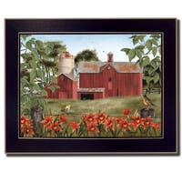 """Summer Days"" By Billy Jacobs, Printed Wall Art, Ready To Hang Framed Poster, Black Frame"