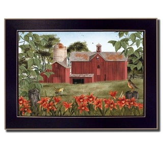 """""""Summer Days"""" By Billy Jacobs, Printed Wall Art, Ready To Hang Framed Poster, Black Frame"""
