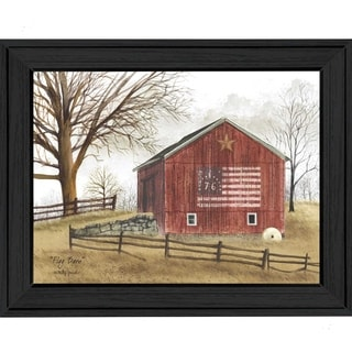 """Americana """"Flag Barn"""" Framed Art"""