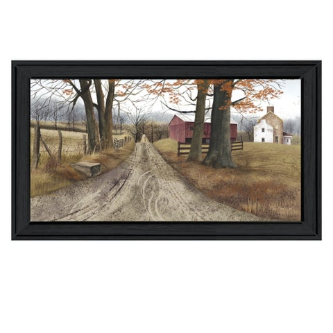 """""""The Road Home"""" By Billy Jacobs, Printed Wall Art, Ready To Hang Framed Poster, Black Frame"""