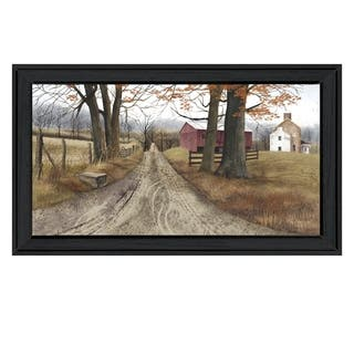 """""""The Road Home"""" By Billy Jacobs, Printed Wall Art, Ready To Hang Framed Poster, Black Frame