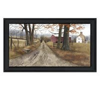 """The Road Home"" By Billy Jacobs, Printed Wall Art, Ready To Hang Framed Poster, Black Frame"