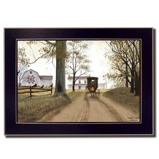 """Headin' Home"" By Billy Jacobs, Printed Wall Art, Ready To Hang Framed Poster, Black Frame"