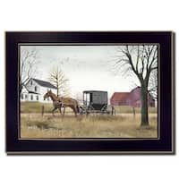 """""""Goin' to Market"""" By Billy Jacobs, Printed Wall Art, Ready To Hang Framed Poster, Black Frame"""