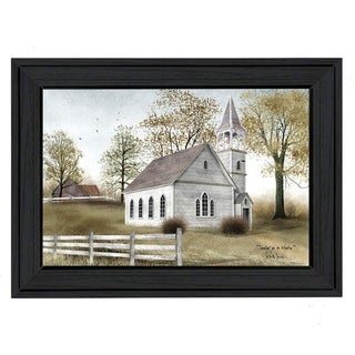 """""""Sunday Go To Meetin"""" By Billy Jacobs, Printed Wall Art, Ready To Hang Framed Poster, Black Frame"""