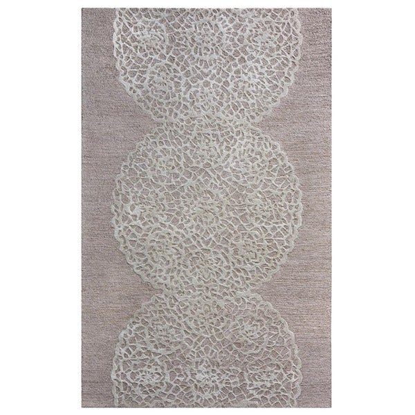 Rizzy Home Dimensions Hand-Tufted Brown Abstract New Zealand Wool Area Rug - 5' x 8'
