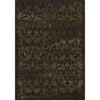 Rizzy Home Chateau Brown Area Rug - 9'10 x 12'6