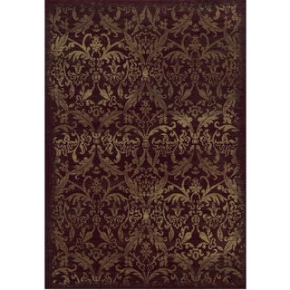 Rizzy Home Chateau Red Abstract Rug (9'10 x 12'6)