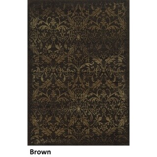 Rizzy Home Chateau Brown Abstract Area Rug (7'10 x 10'10)