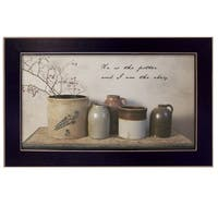 """He is the Potter"" By Billy Jacobs, Printed Wall Art, Ready To Hang Framed Poster, Black Frame"
