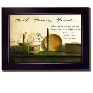 Faith, Family and Friends' Framed Art