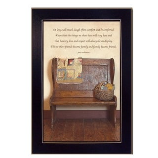 """""""Friends Become Family"""" By Susan Boyer, Printed Wall Art, Ready To Hang Framed Poster, Black Frame"""