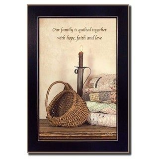 """Quilted Together"" By Susan Boyer, Printed Wall Art, Ready To Hang Framed Poster, Black Frame"