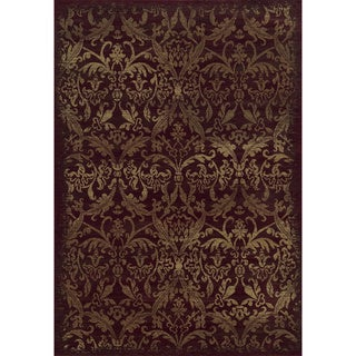 Rizzy Home Chateau Red Area Rug (6'7 x 9'6)