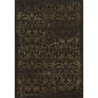 Rizzy Home Chateau Brown Abstract Rug (5'3 x 7'7) - 5'3 x 7'7