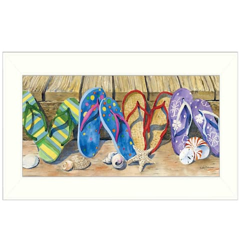 """Flip Floppin'"" By Barb Tourtillotte, Printed Wall Art, Ready To Hang Framed Poster, White Frame"