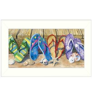 """""""Flip Floppin'"""" By Barb Tourtillotte, Printed Wall Art, Ready To Hang Framed Poster, White Frame"""