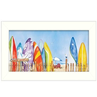 """""""Board Meeting"""" By Barb Tourtillotte, Printed Wall Art, Ready To Hang Framed Poster, White Frame"""
