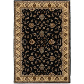 Rizzy Home Chateau Black Border Area Rug (9'10 x 12'6)