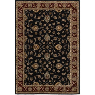 Rizzy Home Chateau Blue Border Area Rug (7'10 x 10'10)