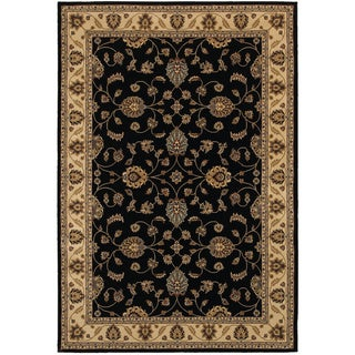 Rizzy Home Chateau Black Border Area Rug (5'3 x 7'7)