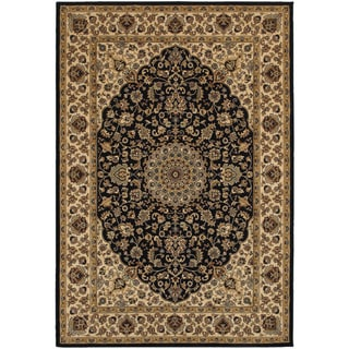 Rizzy Home Chateau Blue Abstract Area Rug (6'7 x 9'6)