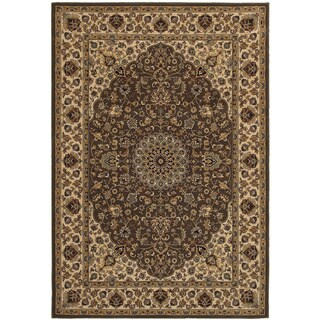 Rizzy Home Chateau Brown Abstract Rug (7'10 x 10'10)