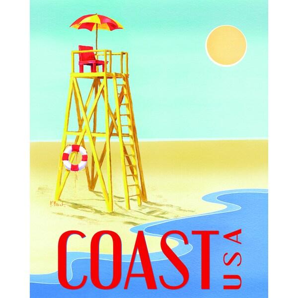 Portfolio Canvas Decor Paul Brent \'Beach Watch Poster III\' Framed ...