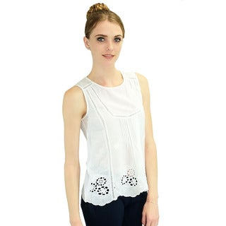 Relished Women's Beatrice White Tank