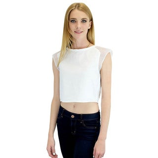 Relished Women's Marina White Crop Top