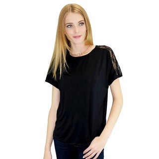 Relished Women's Lilianna Black Lace Blouse