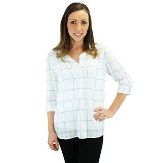 Relished Women's Clayton Plaid 3/4-sleeve Shirt