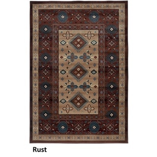 Rizzy Home Bellevue Rust Abstract Area Rug (3'3 x 5'3)