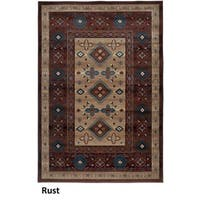 Rizzy Home Bellevue Rust Abstract Area Rug (6'7 x 9'6) - 6'7 x 9'6
