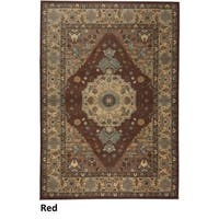 Rizzy Home Bellevue Red Abstract Area Rug - 7'10 x 10'10