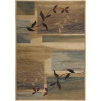 Rizzy Home Bellevue Beige Abstract Area Rug - 3'3 x 5'3