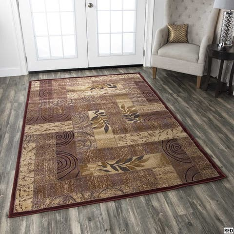 Rizzy Home Bellevue Abstract Rug (6'7 x 9'6)