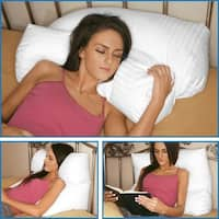Multi-Position Pillow - Therapeutic Neck and Back Pillow - Promotes Healthy Sleep - Two-Piece Incline Wedge Pillow