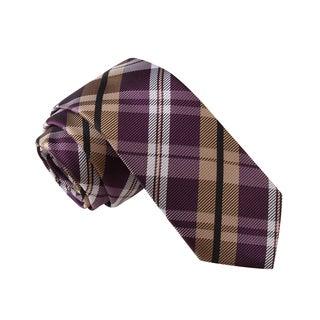 Knot Society Men's Multi Color Plaid Skinny Tie