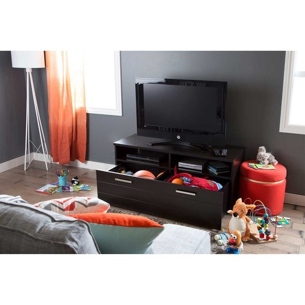 Delicieux South Shore Jambory TV Stand With Storage Bins On Casters