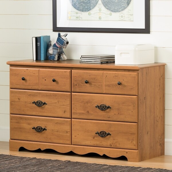 shop south shore prairie 6 drawer double dresser free shipping today overstock 10292278. Black Bedroom Furniture Sets. Home Design Ideas