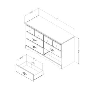 South Shore Prairie 6-drawer Double Dresser