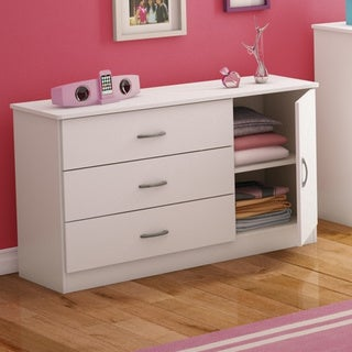 South Shore Libra 3-drawer Dresser with Door (Option: Brown)