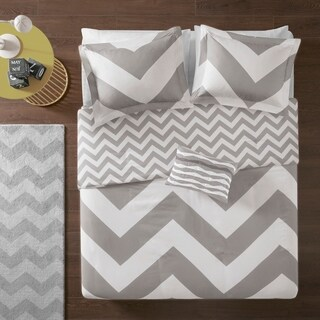 Mi Zone Gemini Reversible Grey Duvet Cover Set